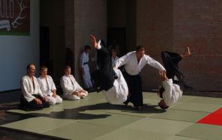 Aikido bemutató a Bókay-kertben